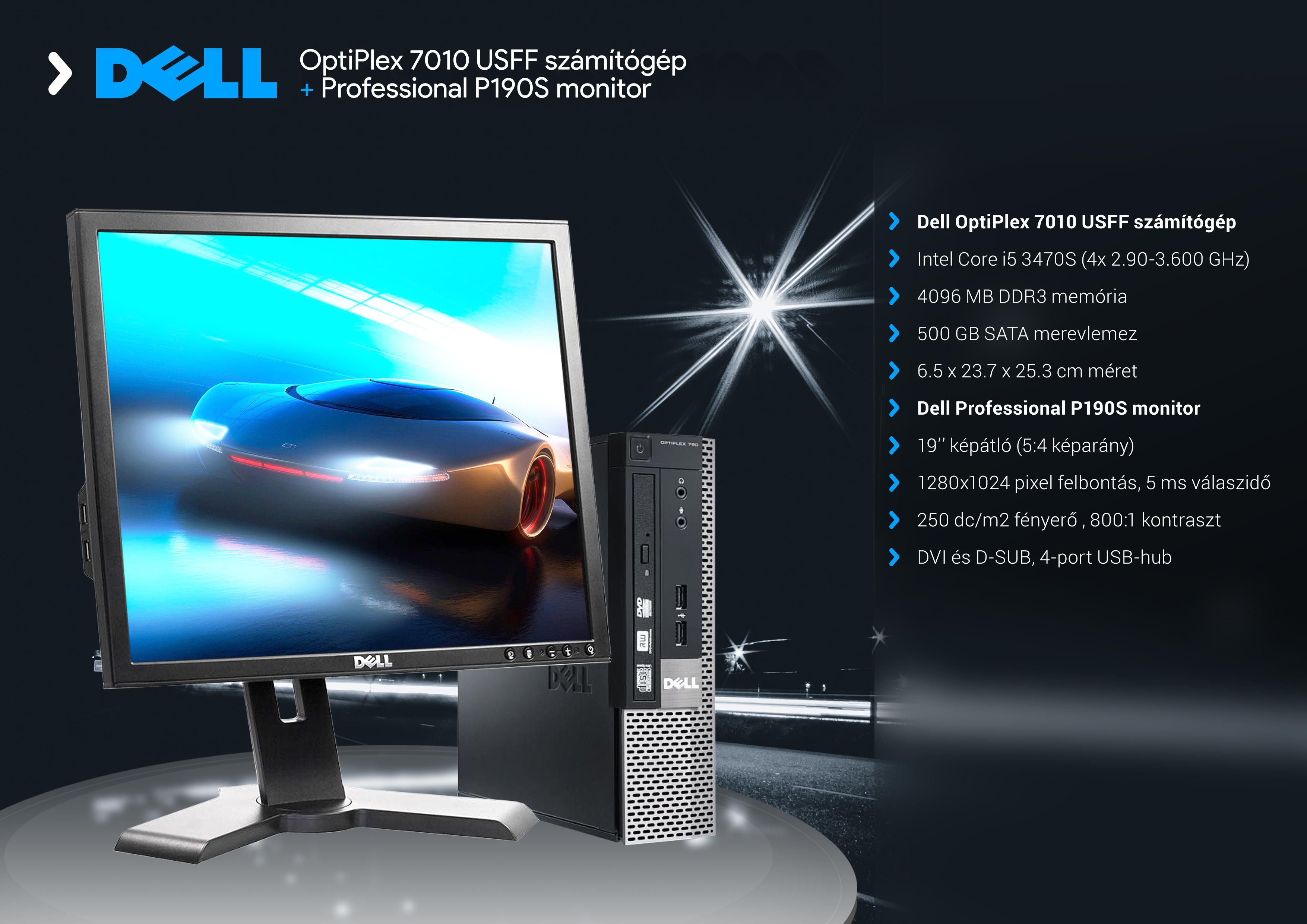 Dell OptiPlex 7010 USFF és Professional P190Sb :: PC Aréna Kft