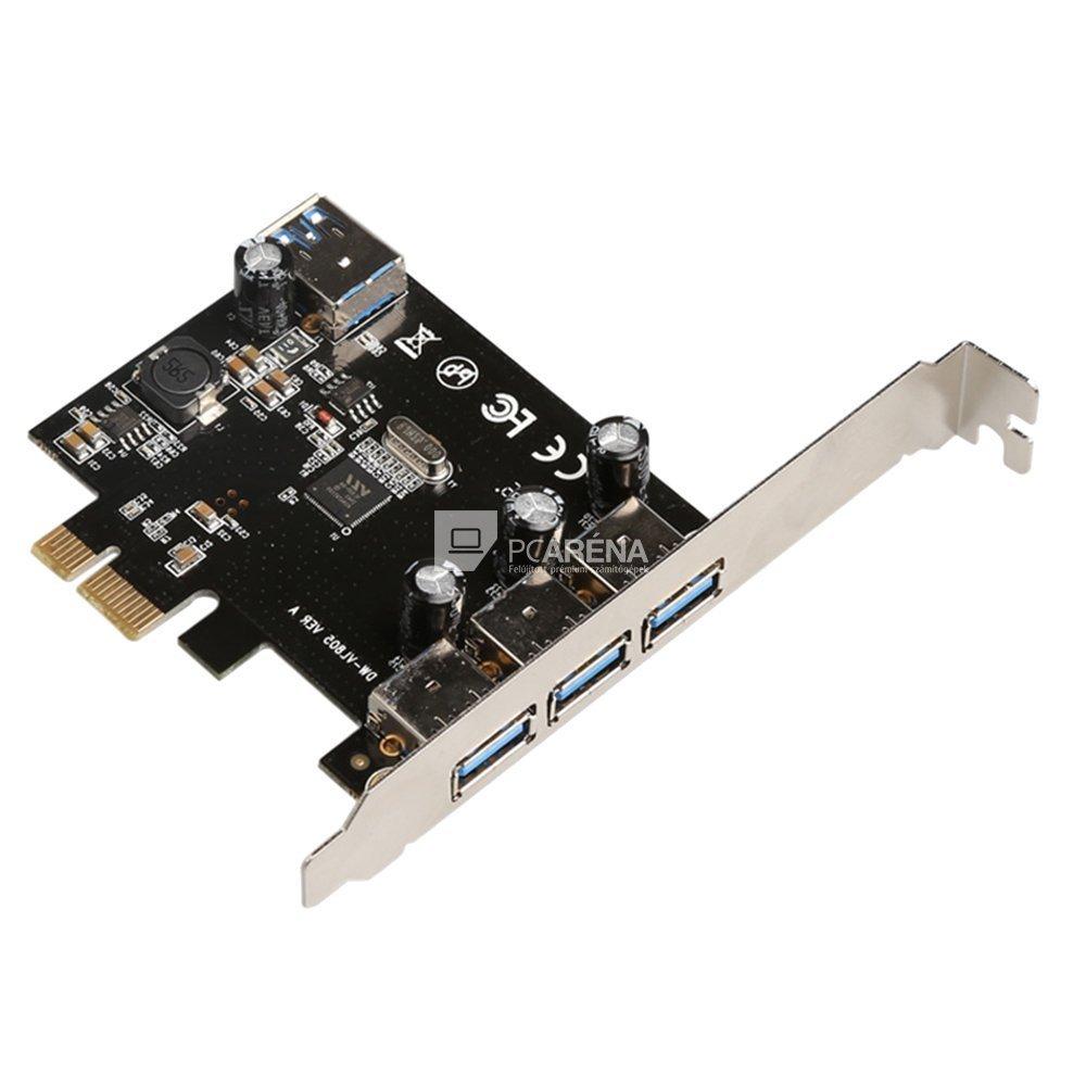4 portos USB3.0 bővítőkártya